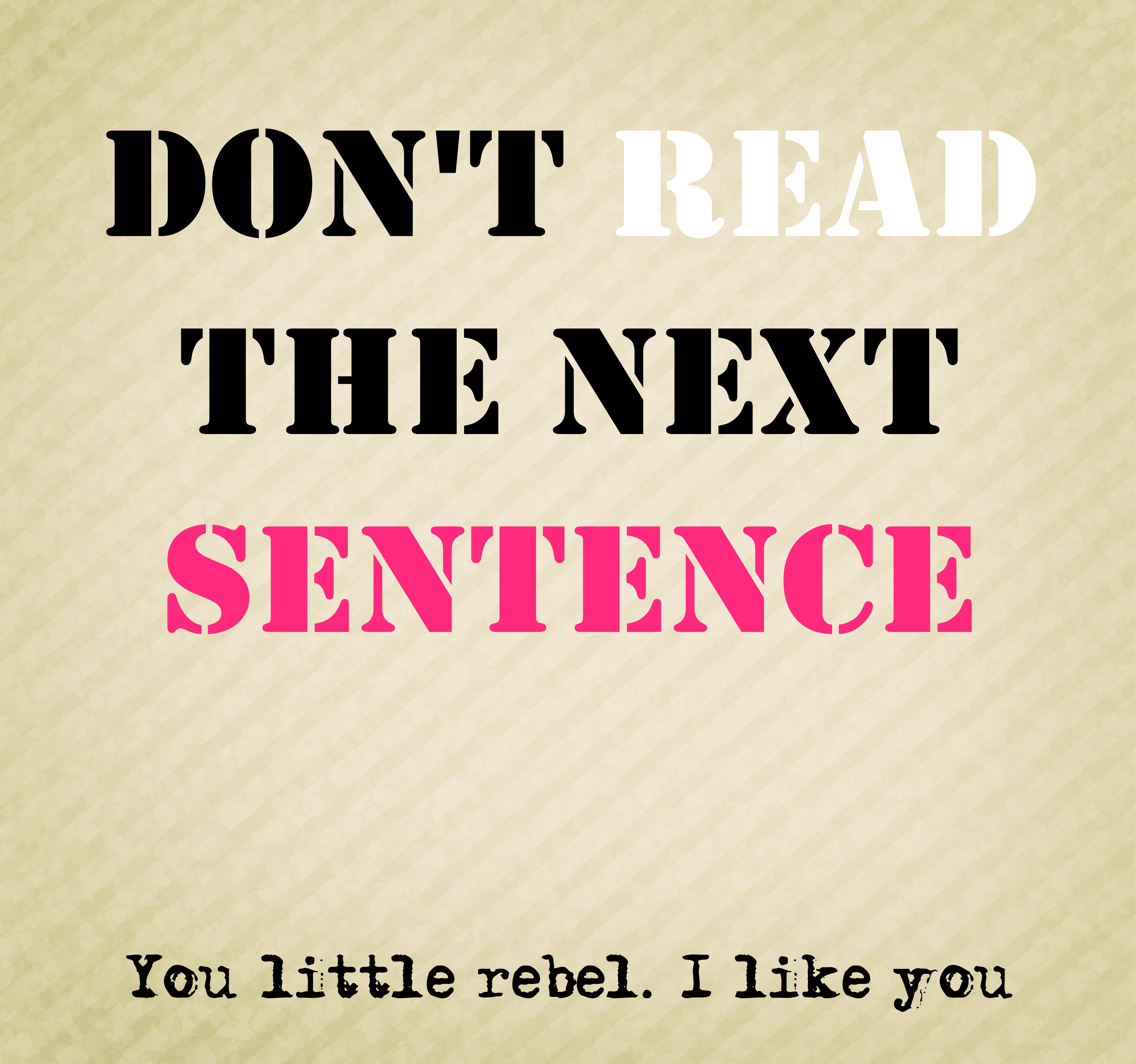 don't-read-sentence